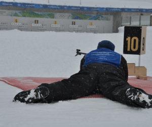 Course d'orientation raquette/biathlon