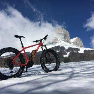 Trottinette et fat bike sur neige